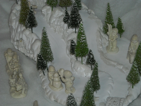 Dept 56 mini pewter snow babies