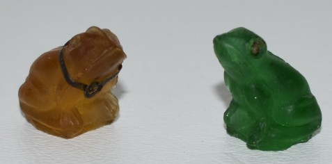 Early 20th century Czech Glass frogs