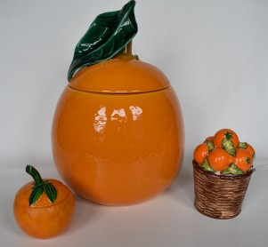 Giant cookie jar orange