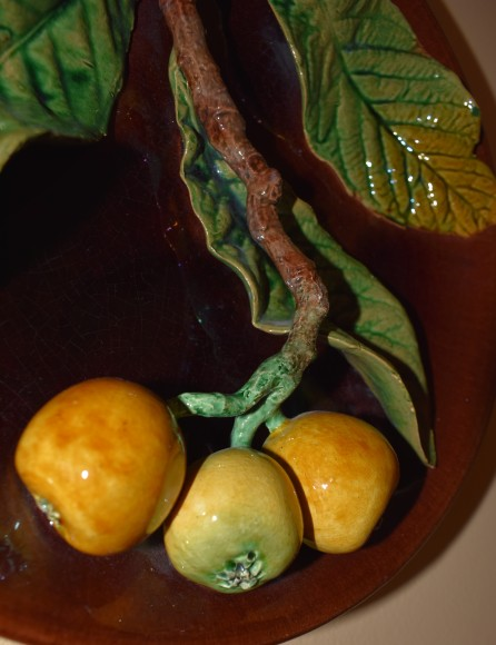 Beautiful plate with raised fruit